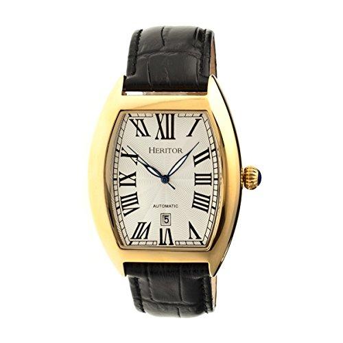 Heritor Men's HR2203 Redmond Black Leather Watch