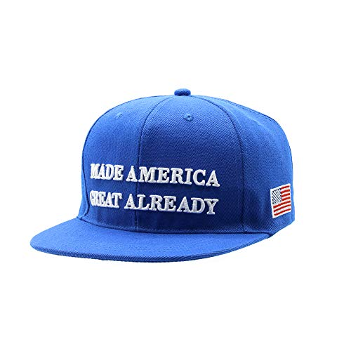 Made Great Already Hat Blue MAGA Hat Baseball Cap With 3D Embroidery Logo USA Flag Adjustable Blue