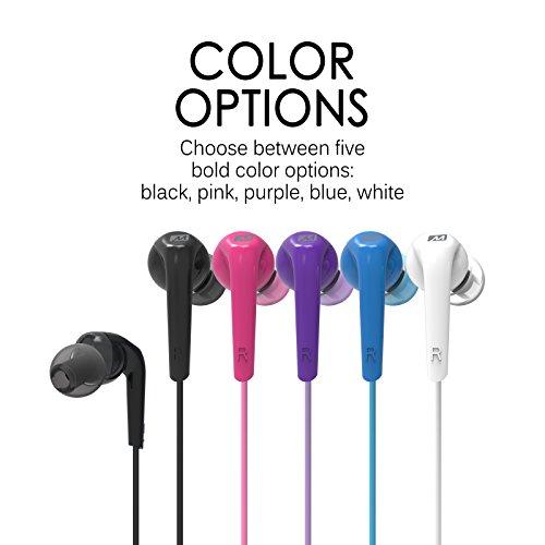 MEE Audio RX18 Comfort-Fit in-Ear Headphones with Enhanced Bass (Black)
