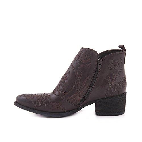 Rouge Ladies Stivali In Vera Pelle Cowboy Stivaletti Antiscivolo Stivali Invernali Scarpe In Pelle Stivali Di Pelle Marrone