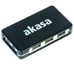 AKASA Hub 7 puertos USB 2.0 Connect7 - negro