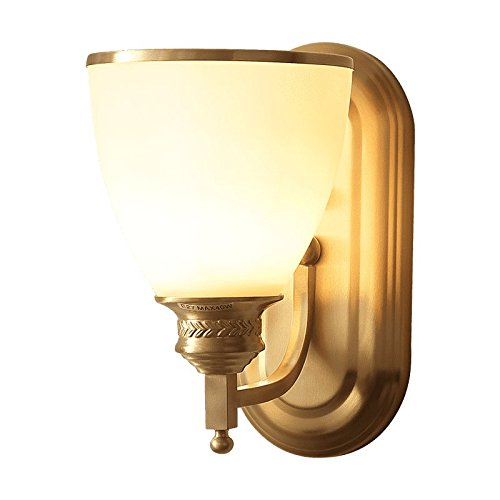 MMYNL Moderne E27 Antik Wandlampe Vintage Wandlampen Wandleuchten für Schlafzimmer Wohnzimmer Bar Flur Bad Küche Balkon Kupfer Nachttischlampe Marmor Wandleuchte