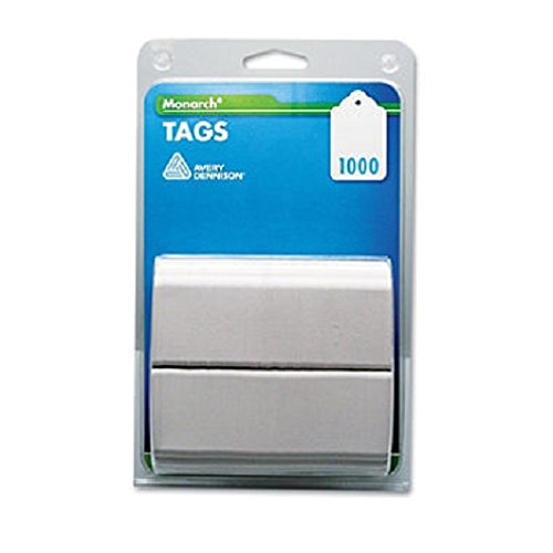Monarch Products - Monarch - Refill Tags, 1-1/4 x 1-1/2, White, 1000/Pack - Sold As 1 Pack - Designed for use with Monarch Tag Attacher. - Stringless tags have eyelet for use with plastic fasteners. -