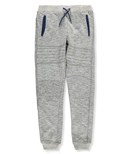 DKNY Big Boys' Jogger Pant, Light Grey Heather-Kcdg, 18/20 (Boys Sweatpants Size 18)