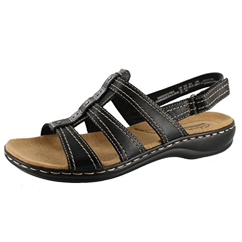 Daisy Womens Sandals (Clarks Leisa Daisy Womens Black Sandal 8.5-MEDIUM)