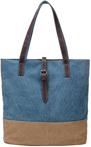 ArcEnCiel Women's Canvas Shoulder Hand Bag Tote
