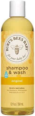 Burt's Bees Baby Shampoo & Wash, Original Tear Free Baby Soap - 12 Ounce Bottle