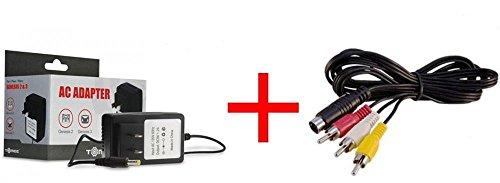 Video Game Accessories NEW POWER CORD AC ADAPTER FOR SEGA GENESIS 2/3 +SEGA GENESIS 2/3 AV CABLE BUNDLE