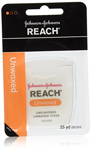 Reach Dental Floss, Unwaxed, 55 Yard (Pack of 12) by Reach
