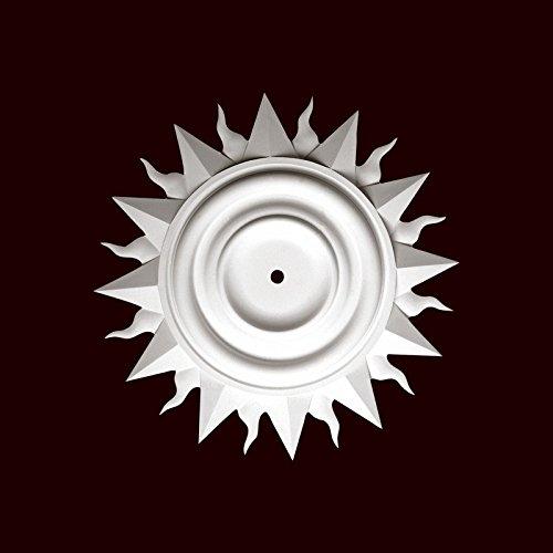 Ceiling Medallion 27 Inch Diameter by Chemcrest Sunburst # RM37528-36 Primed White Polyurethane by ChemCrest Inc.
