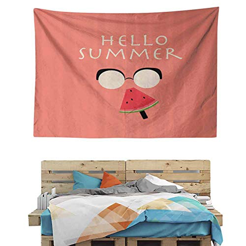 HuaWuChou Man Eats Popsicle Tapestry, Wall Hanging Boho Tapestry Hippie Hippy Tapestry Beach Coverlet Curtain, 92.5W x 70.9L Inches
