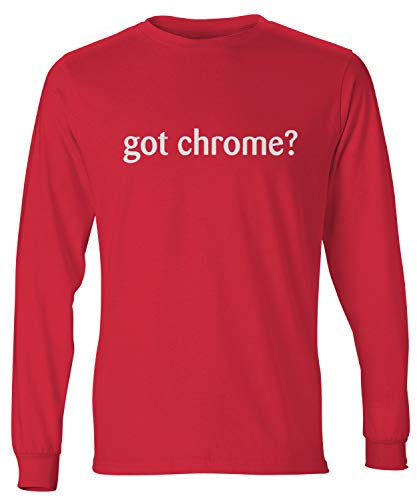 shirtloco Men's Got Chrome Long Sleeve T-Shirt, Deep Red Extra Large