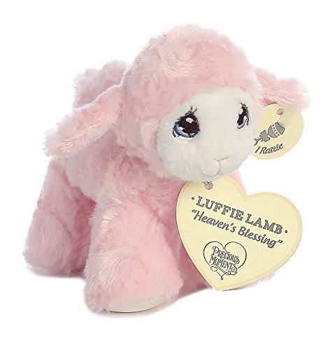 Precious Lamb (Precious Moments Luffie Lamb Heaven's Blessings Baby Rattle - Pink)