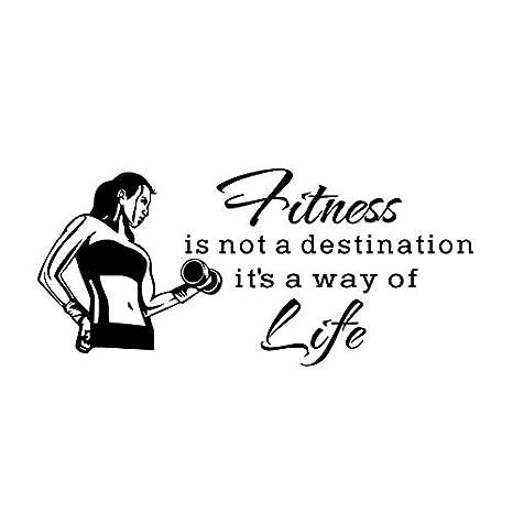 Fitness no es un destino Es una forma de vida Pegatinas de pared ...