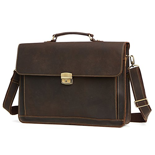 TOREEP Men's Business Bags Briefcases For Leather by TOREEP