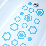 Adhesive Flower Bath Treads, 21 Count (Blue)