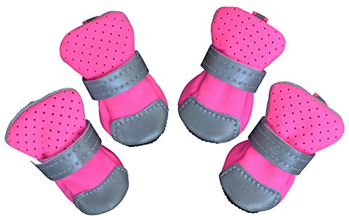 Dog Boots Breathable Paw Protectors for Small to Medium Dogs (Pack of 4)