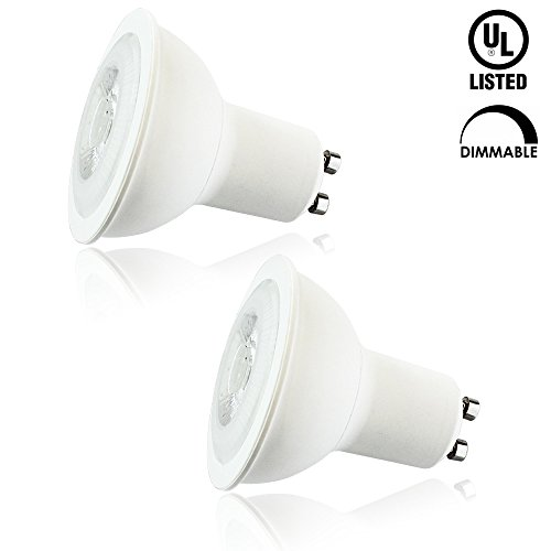 Luxrite LR21310 (2-Pack) 8W MR16 LED Bulb, 50W Halogen Replacement, Dimmable, Bright White 5000K, 550 Lumens, 40° Beam Spotlight, GU10 Base, and UL Listed