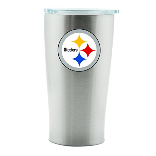 (NFL Pittsburgh Steelers 14oz Double Wall Stainless Steel Thermo Cup with Lid)