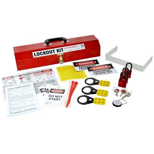 Brady LK907E, 45603 Basic Lockout Kit w/ Metal Toolbox & 3 Locks, 2 Kits