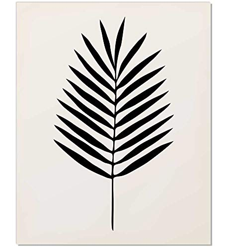 Palm Leaf Art, Palm Leaf Print, Black and White Palm, Palm Leaf Art, Tropical Decor, Tropical Art, Tropical Leaf Print, Minimalist Leaf Art, Palm leaf Art, Black Palm, Tropical Art Print, 8x10