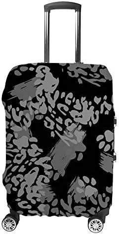 スーツケースカバー 斑点ヒョウスキン 白黑 伸縮素材 キャリーバッグ お荷物カバ 保護 傷や汚れから守る ジッパー 水洗える 旅行 出張 S/M/L/XLサイズ