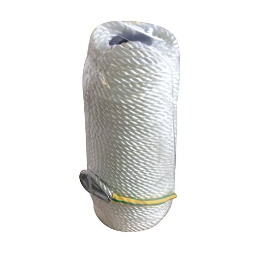 Rope Nylon Yacht Braid (30m/100Ft Professional Twisted Braid Thick High Strength Anchor Mooring Rope Nylon Dockline White)