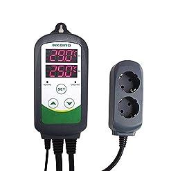 inkbird itc-308 digitaler temperaturregler mit fühler, heizen kühlen temperaturschalter, 230v thermostate
