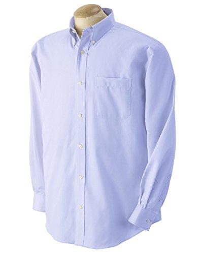 Devon & Jones D605 Men's Advantage Elite Pinpoint Oxford S Light Blue Devon And Jones Cotton Dress Shirt
