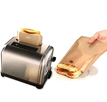 Plan px antiadherente tostadora bolsas pack de 4 reutilizable y resistente al calor