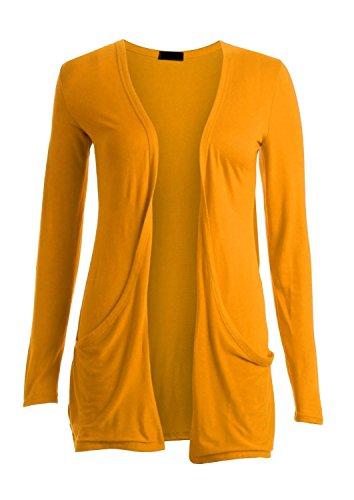 Crazy Girls Womens Boyfriend Pocket Cardigan Jersey Shrug (S/M-US6/8, -