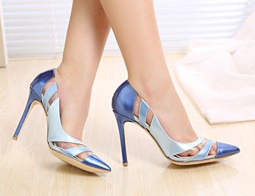 Multicolore Bleu Sexy Stiletto Bride Aisun Cheville Escarpins Femme vI0pWqO