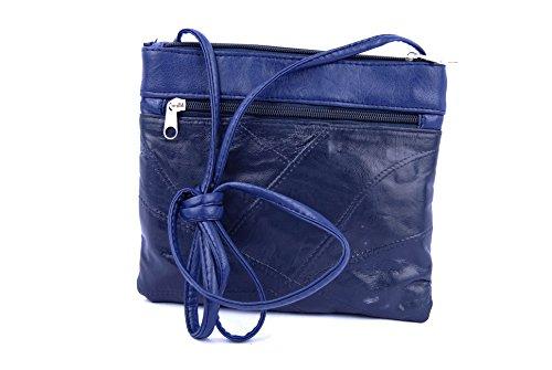 Tienda Calidad Basic Collection Bolsos bandolera, 22 cm, Azul Oscuro