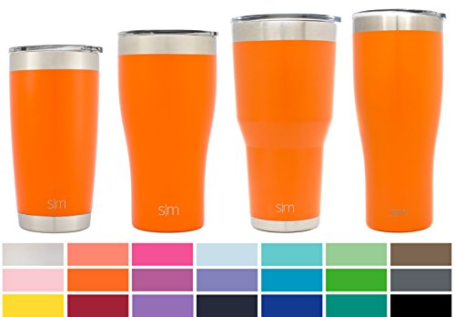 Simple Modern 20oz Cruiser Tumbler - Vacuum Insulated Double Wall for Starbucks Drinks - 20 ounce 18/8 Stainless Steel Orange Travel Mug - Autumn (Beverage Tumbler Mug)