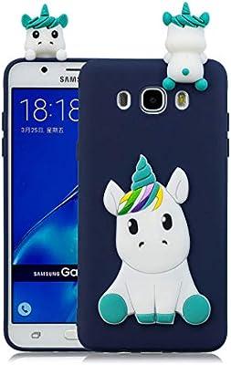 Funda para Samsung Galaxy J5 2016 Silicona Unicornio 3D Animal ...