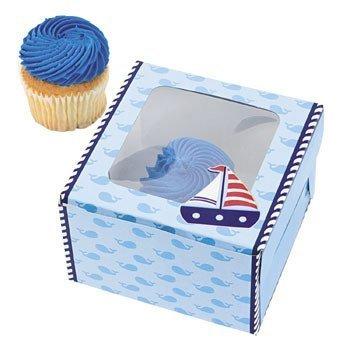 Nautical Cupcake Boxes - 12 ct