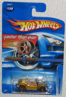 Mattel Hot Wheels 2005-139 Meyers Manx Gold Faster Than E...