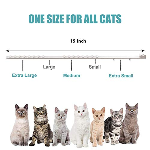 Calming Collar for Cats and Kittens Relieve Reduce Anxiety or Stress Pheromones Formula Waterproof Your Pet Lasting Calm Collar Up to 15 Inch Fits Cat