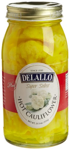 DeLallo Hot Cauliflower, 25.5-Ounce Jars (Pack of 6)