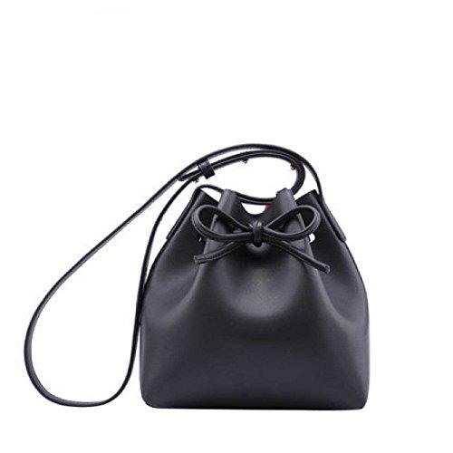 Le Donne In Pelle Messenger Bag Mini Bag Borsa Secchiello Black