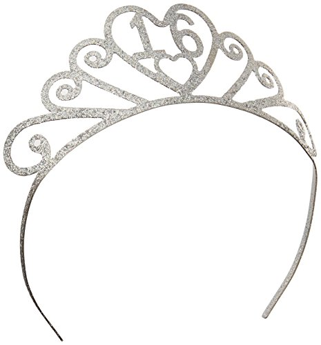 Beistle-60633-16-Glittered-Metal-16-Tiara-Party-Dcor