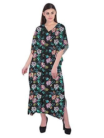 RADANYA Kaftan Tunic Kimono Dress Ladies Summer Women Evening Maxi Party Black