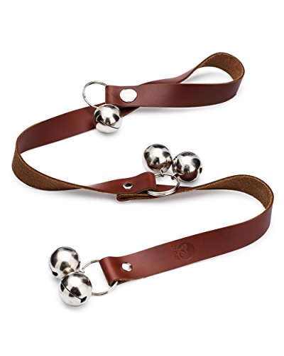 JC Ruff Leather Dog Doorbells for Housetraining - Easy to Hear Door Bells for Housebreaking and Training Your Puppy - Instructions Included