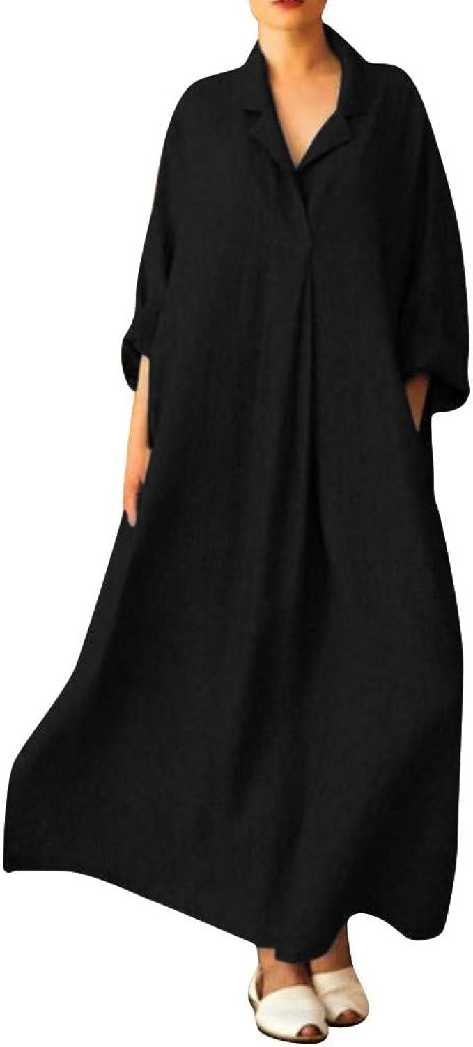 Linen Shirtdress Long Linen Dress