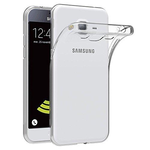 Case for Samsung Galaxy J3 / J3 2016 (5 inch) MaiJin Soft TPU Rubber Gel Bumper Transparent Back Cover