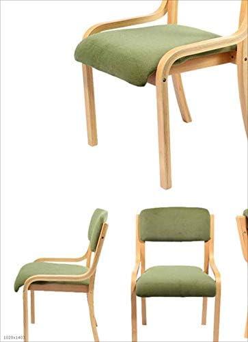 TX ZHAORUI Chaise À Manger en Bois Plein Fauteuil Chaise D'ordinateur De Bureau avec Table De Dossier Et Chaise,L