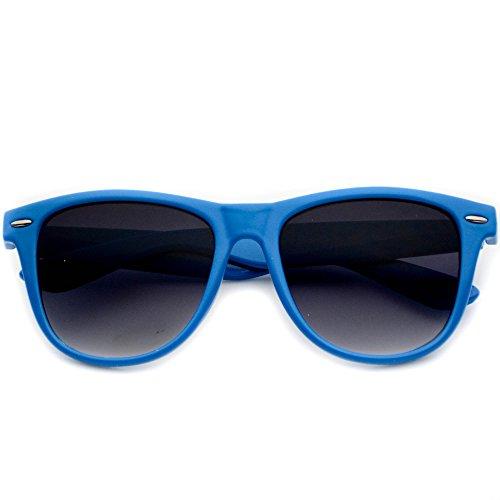 WearMe Pro - Large Colorful Retro Wayfarer Sunglasses Blue Frame