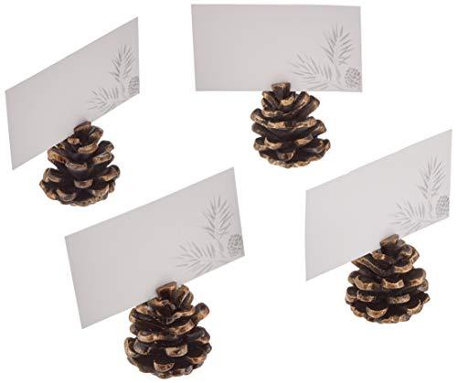 Pinecone Place Card Holders - Lenox Alpine Metal Pinecone Placecard Holders S/4, 4 Piece