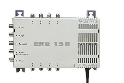 Kathrein EXR 158 Satelliten-ZF-Verteilsystem-Multischalter (5-8 Teilnehmeranschluß, 18 V Spannung, Fernspeisestrom 550 mA)