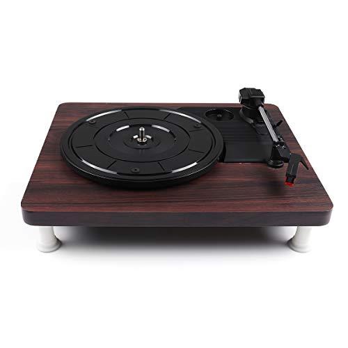 Sndy レトロステレオ33 45 78 3スピードビニールレコードターンテーブルプレーヤー蓄音機